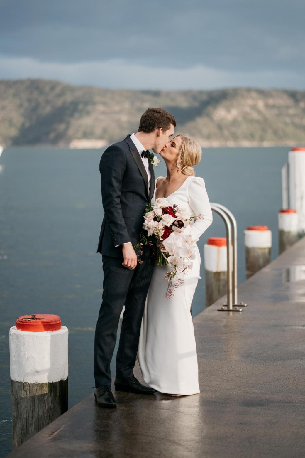 KWH bride Jordana & Mitch just married; featuring the AUBREY gown.